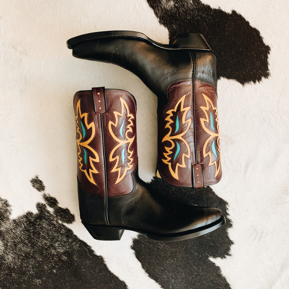 Vintage Style Cowboy Boot