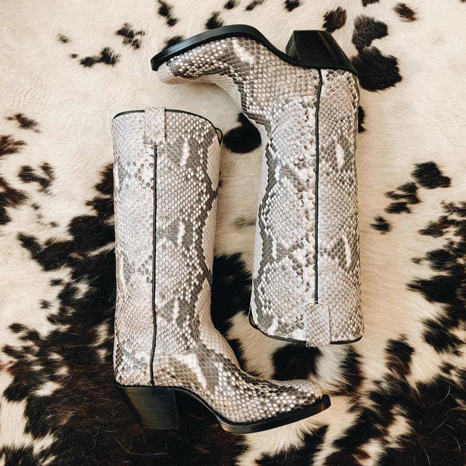 Snake Skin Cowboy Boots