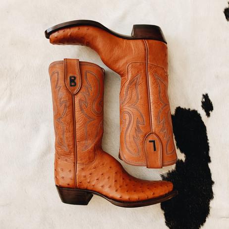 Full Ostrich Cowboy Boot