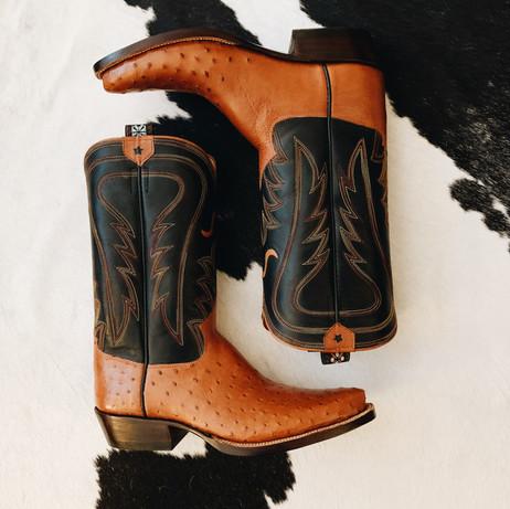 Handmade Ostrich Dress Boot