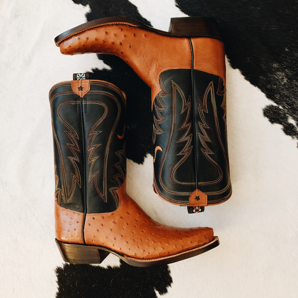 Handmade Ostrich Dress Boot