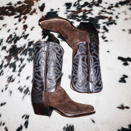 Mens Rough Out Cowboy Boot