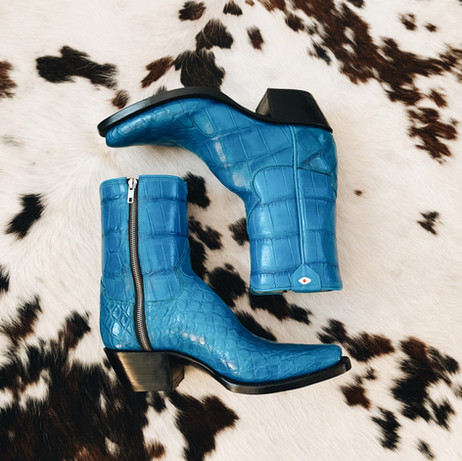 Mens Alligator Side Zipper Boot