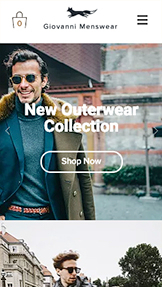 Webshop website templates – Men's Fashion