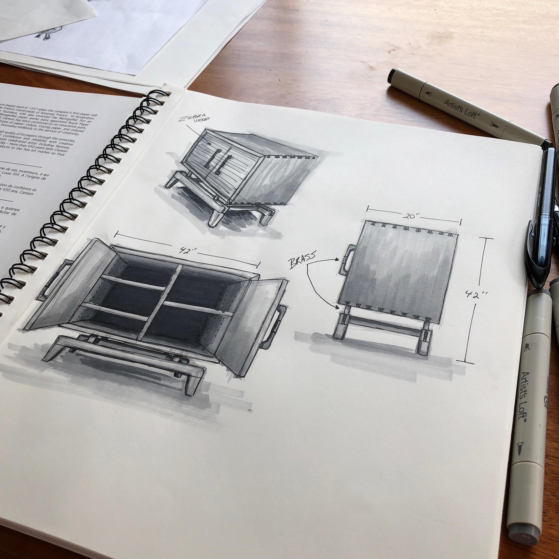 credenza sketch