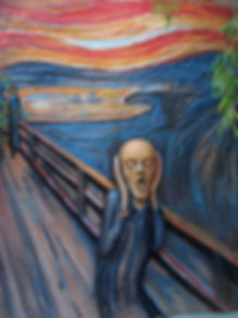 "Artist interpretation of the ""Scream"""