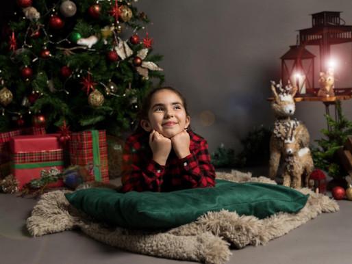 Sessão Fotográfica de Natal em estúdio