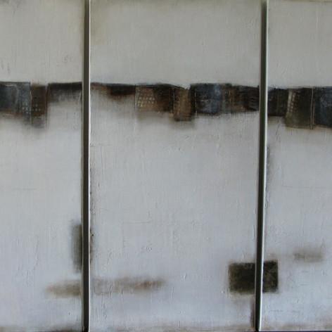 Huile sur toile de lin 100x120cm