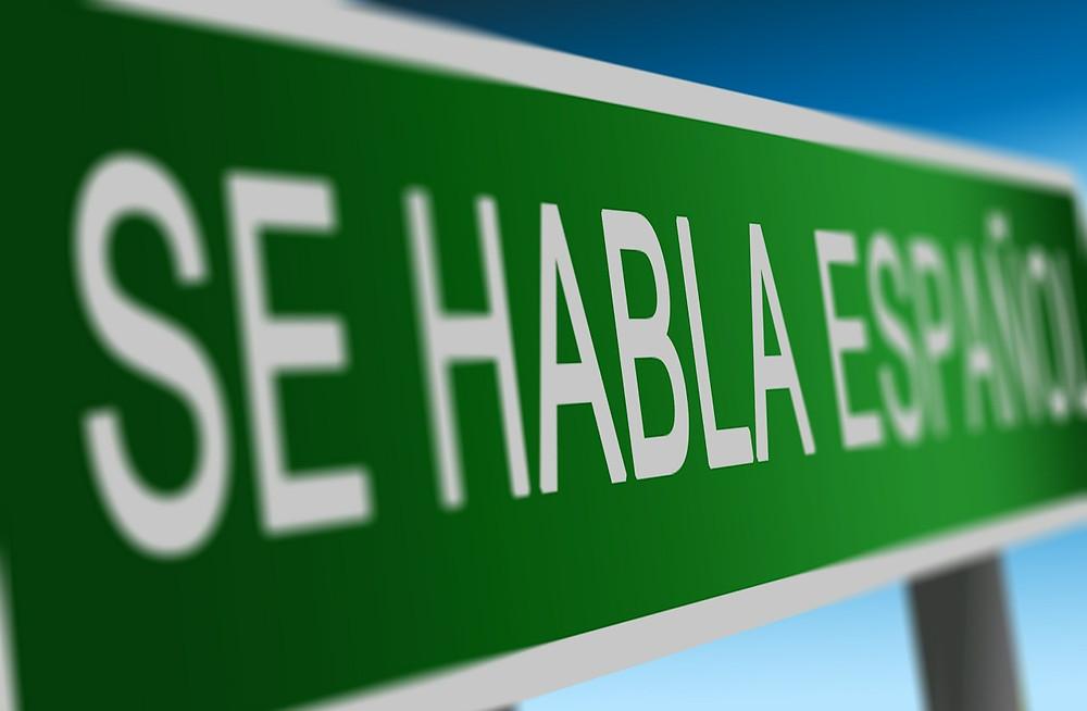 Sign for Se Habla Español