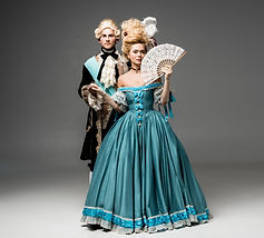 Man and Woman dressed in victorian costumes