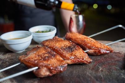 חזה אווז בדבש עם רוטב צימיצורי