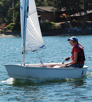 Being the skipper is a new adventure for young sailors.  Many kids gain confidence and independence during camp
