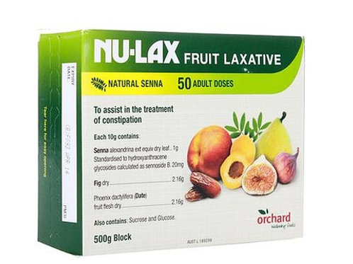 Nu Lax Natural Fruit Laxative 500g 紐樂膏果蔬潤腸通便