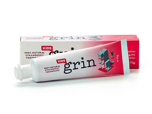 Grin 100% Natural Kids Toothpaste Strawberry Flavour