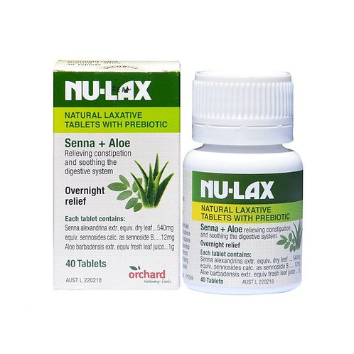 Nu Lax Natural Laxative Tablets with Probiotic 紐樂片含益生菌40粒