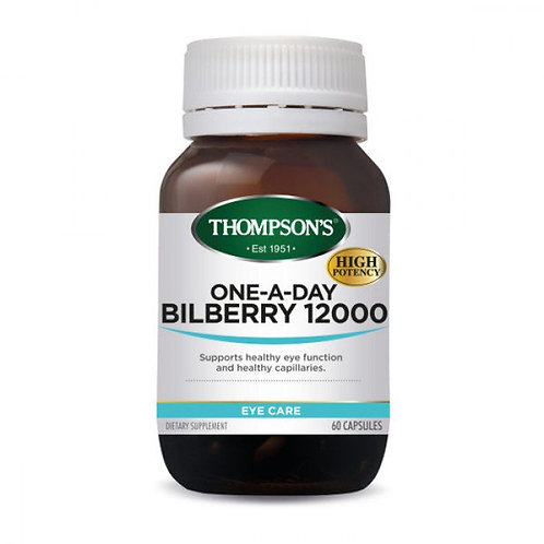 Thompson's - Bilberry 12,000- 60 tablets