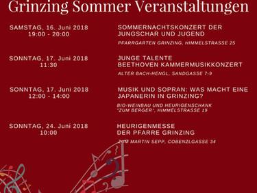 Grinzing Sommer Veranstaltungen