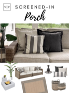 My Screened-In Porch Patio Set & Accents
