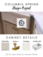 Columbia Spring Design Project Update—Cabinet Details