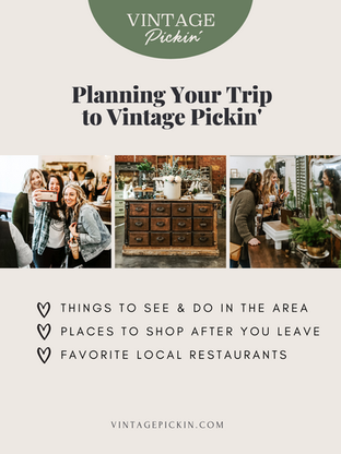 Planning Your Trip to Vintage Pickin'® + local recommendations for more pickin' & good eats!