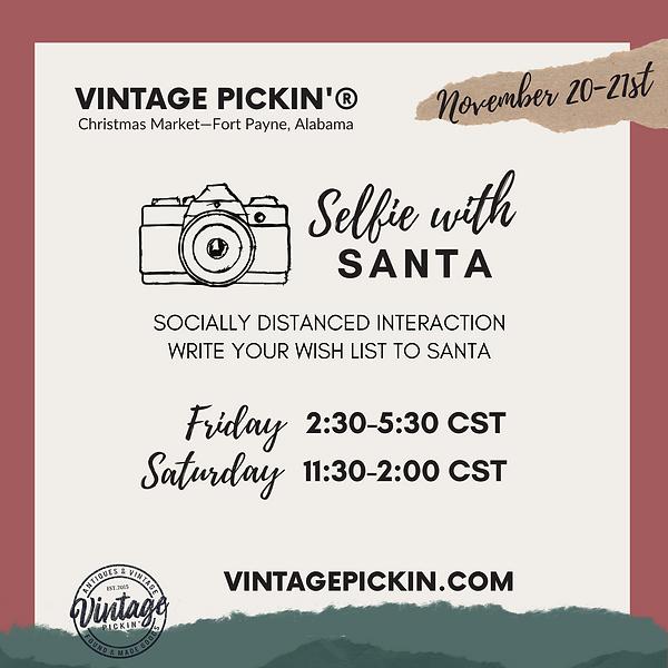 Vintage Pickin' Selfie with Santa Claus