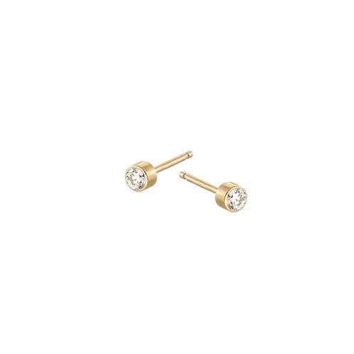 Diamond  stud earrings, handmade in Dublin