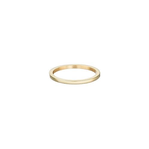 gold stacking ring, Handmade in Dublin.