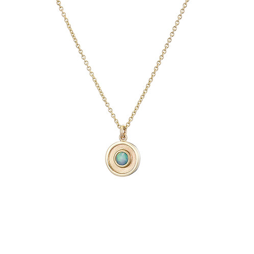 gold and opal necklace, handmade in Dublin