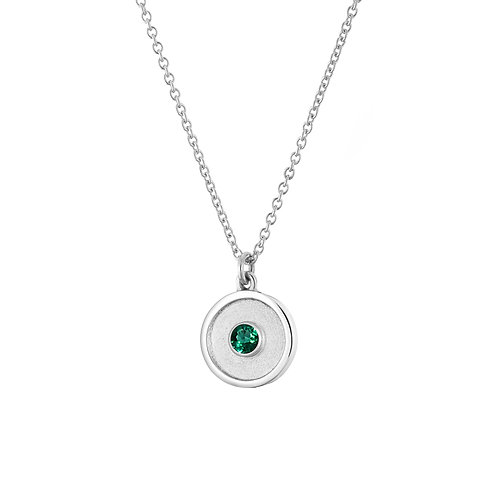 *LIMITED EDITION* SILVER EMERALD AMULET NECKLACE