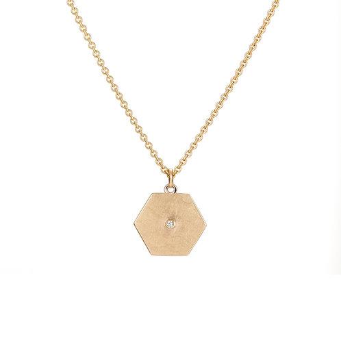DIAMOND HEX PENDANT
