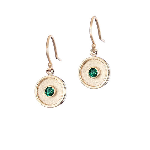Emerald drop earrings, handmade in Dublin