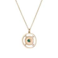 Rachel Swan, Emerald & Diamond Amulet Ne