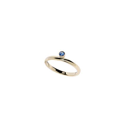 BLUE SAPPHIRE HORIZON RING