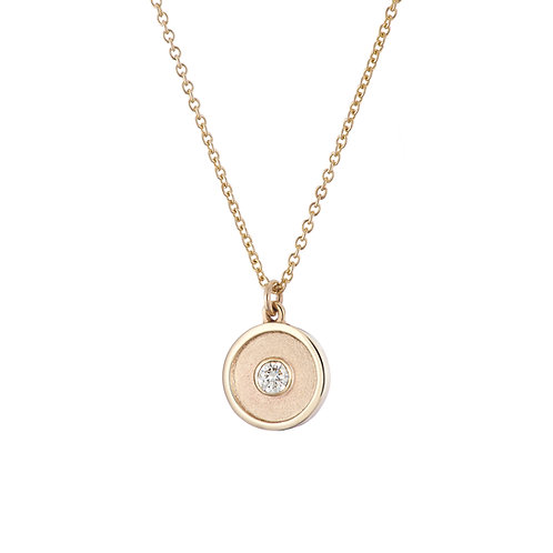 Gold and diamond necklace, handmade in Dublin