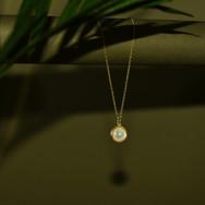 Opal amulet still life