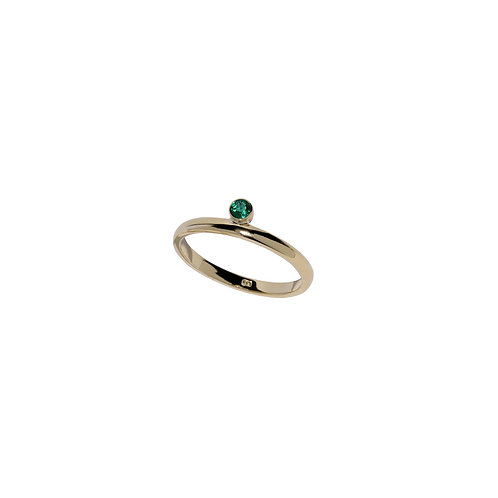 Emerald ring, handmade in Dublin