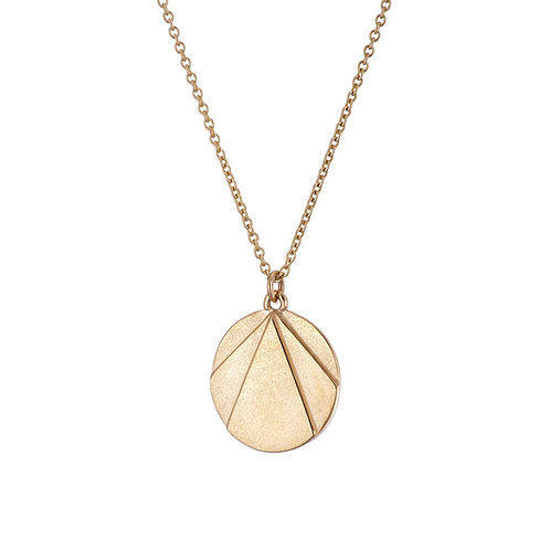 gold necklace, art deco style, handmade in Dublin