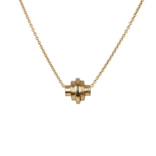 Gold necklace, Handmade in Dublin, Ireland.