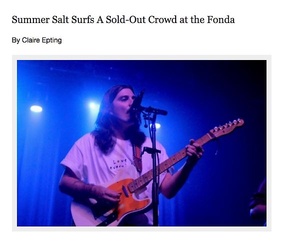 Summer Salt at the Fonda