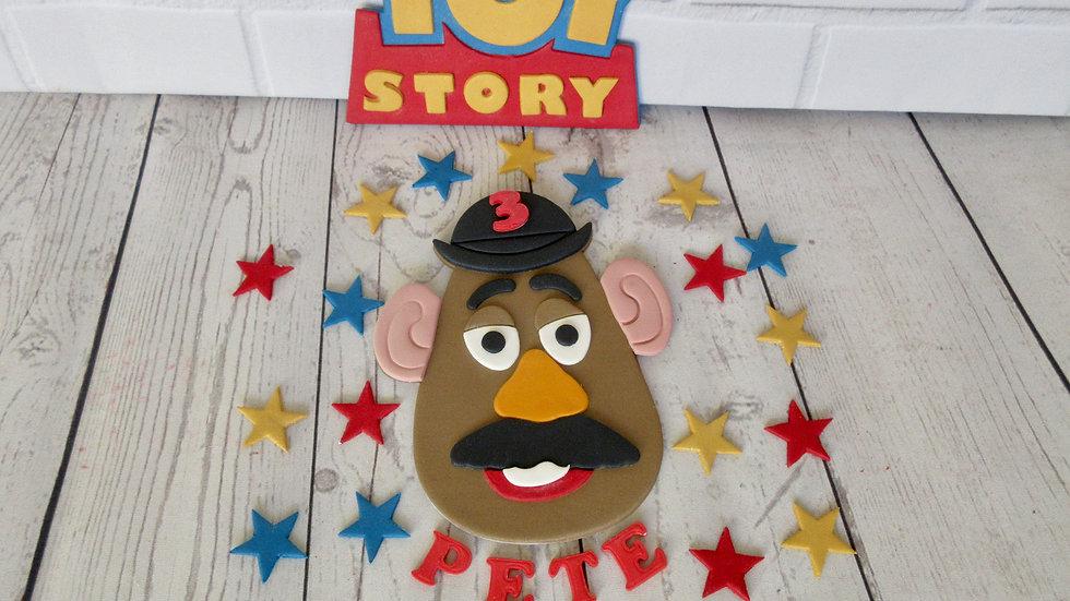 Toy Story Mr Potato Head edible cake topper.