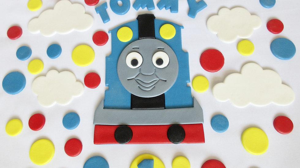 Thomas the Tank Engine edible cake topper.