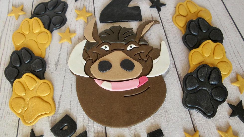 Pumbaa Lion King edible cake topper