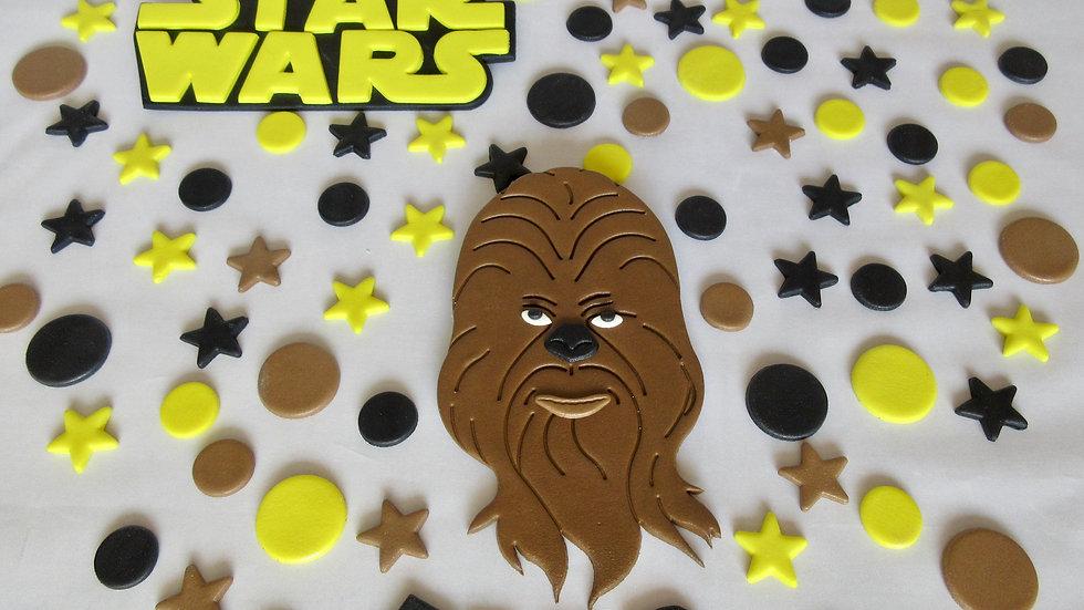 Star Wars Chewbacca edible cake topper