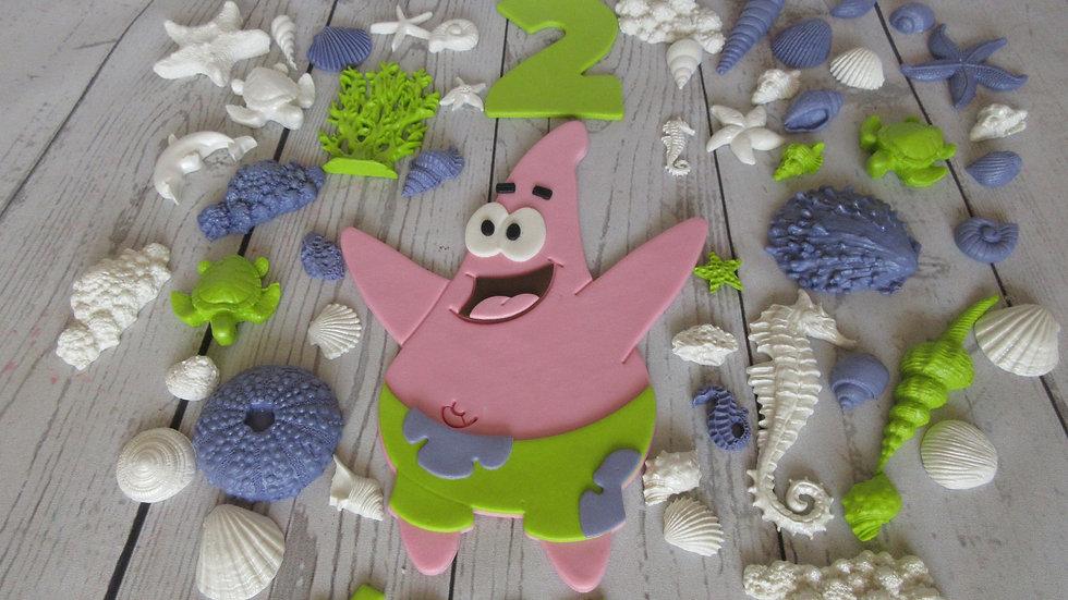 Spongebob squarepants Patrick edible cake topper