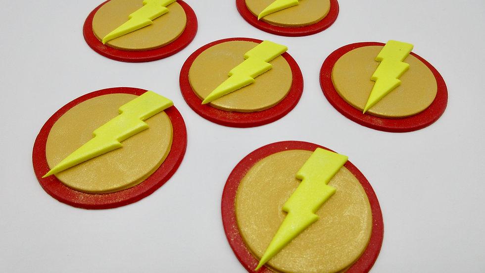 Edible Flash Cupcake Toppers