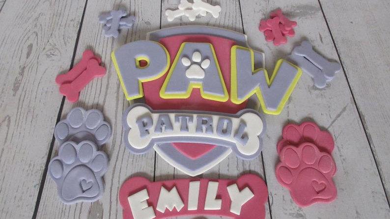PAW Patrol edible cake topper. Girls paw patrol. Fondant paw patrol
