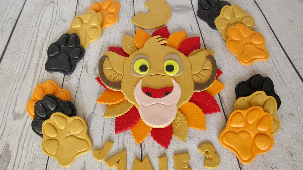 Simba The Lion King edible cake topper.