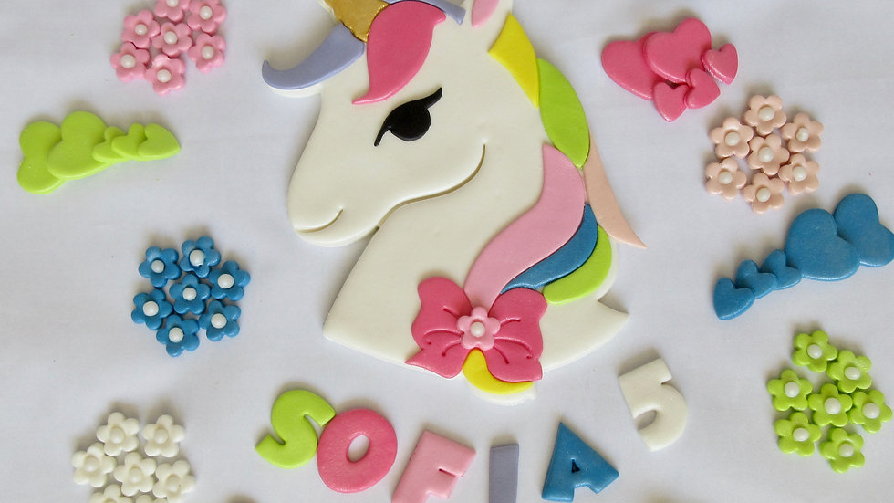 Unicorn edible cake topper
