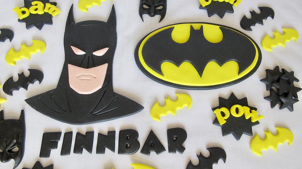 Batman edible cake topper