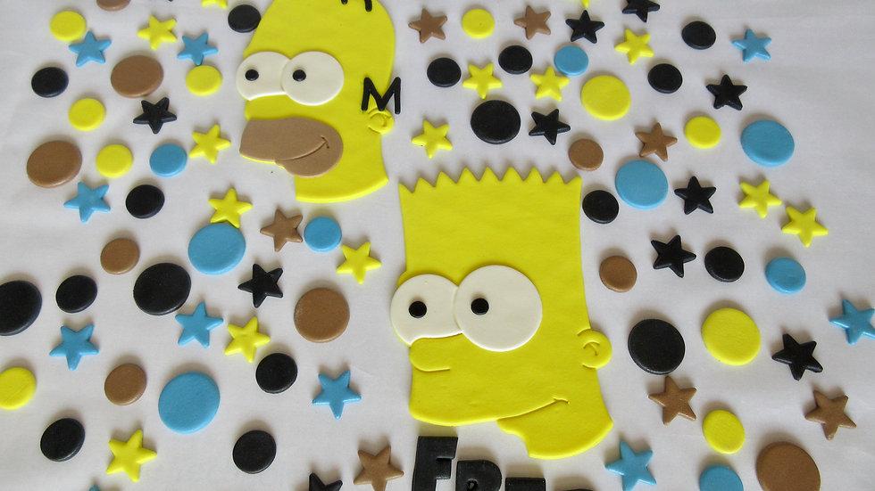 Bart Simpson Homer Simpson edible cake topper
